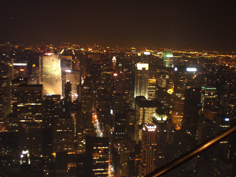 New York - Bei Nacht vom Empire State Building aus