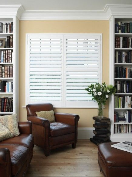 Which Is Better Wood Shutters Vs Poly Love The Framed In Bookcases