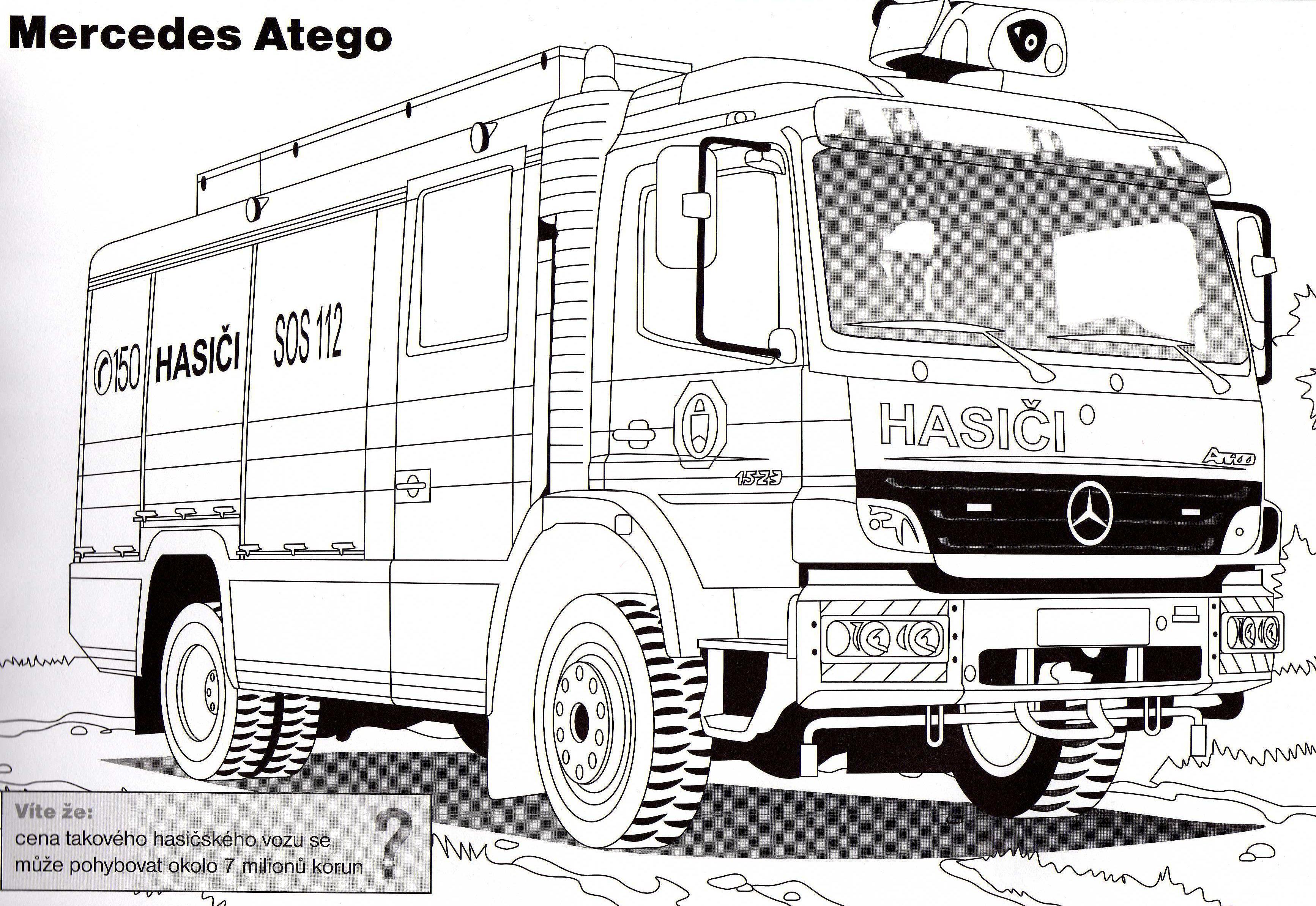 fresco desenhos para colorir de caminhão mercedes 2018