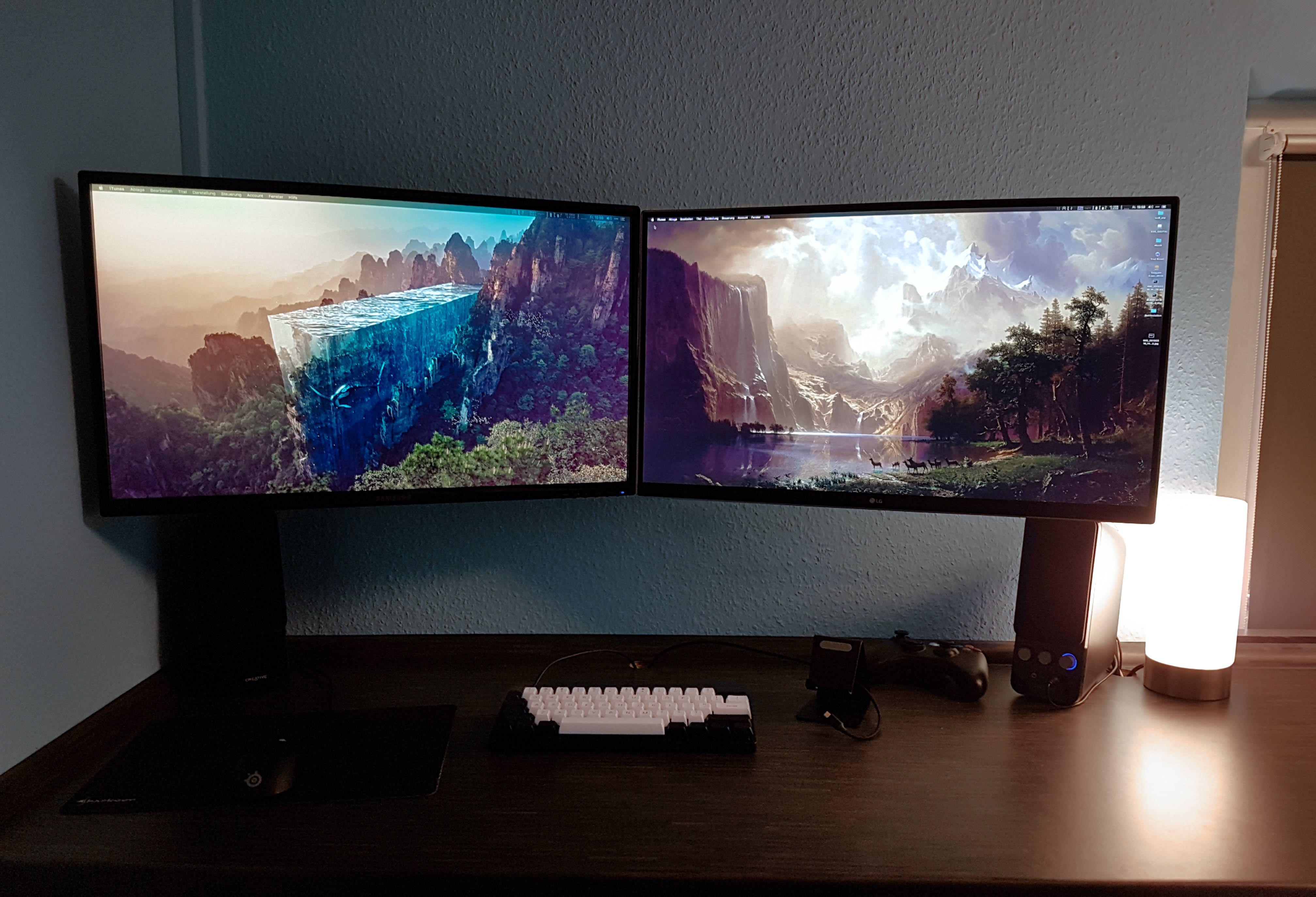 I Should Ve Bought Two 4k Monitors Instead Of Just One Battlestation Custom Pc Gaming Setup Benq gl2460hm 24 inch 1080p led gaming