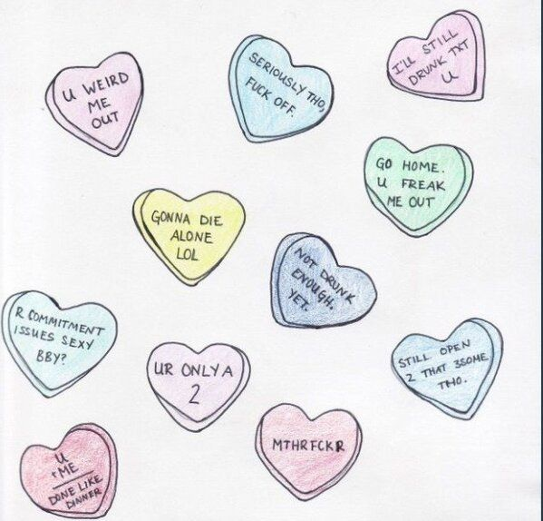 Rejected Candy Heart Sayings Funnyisms Witticisms