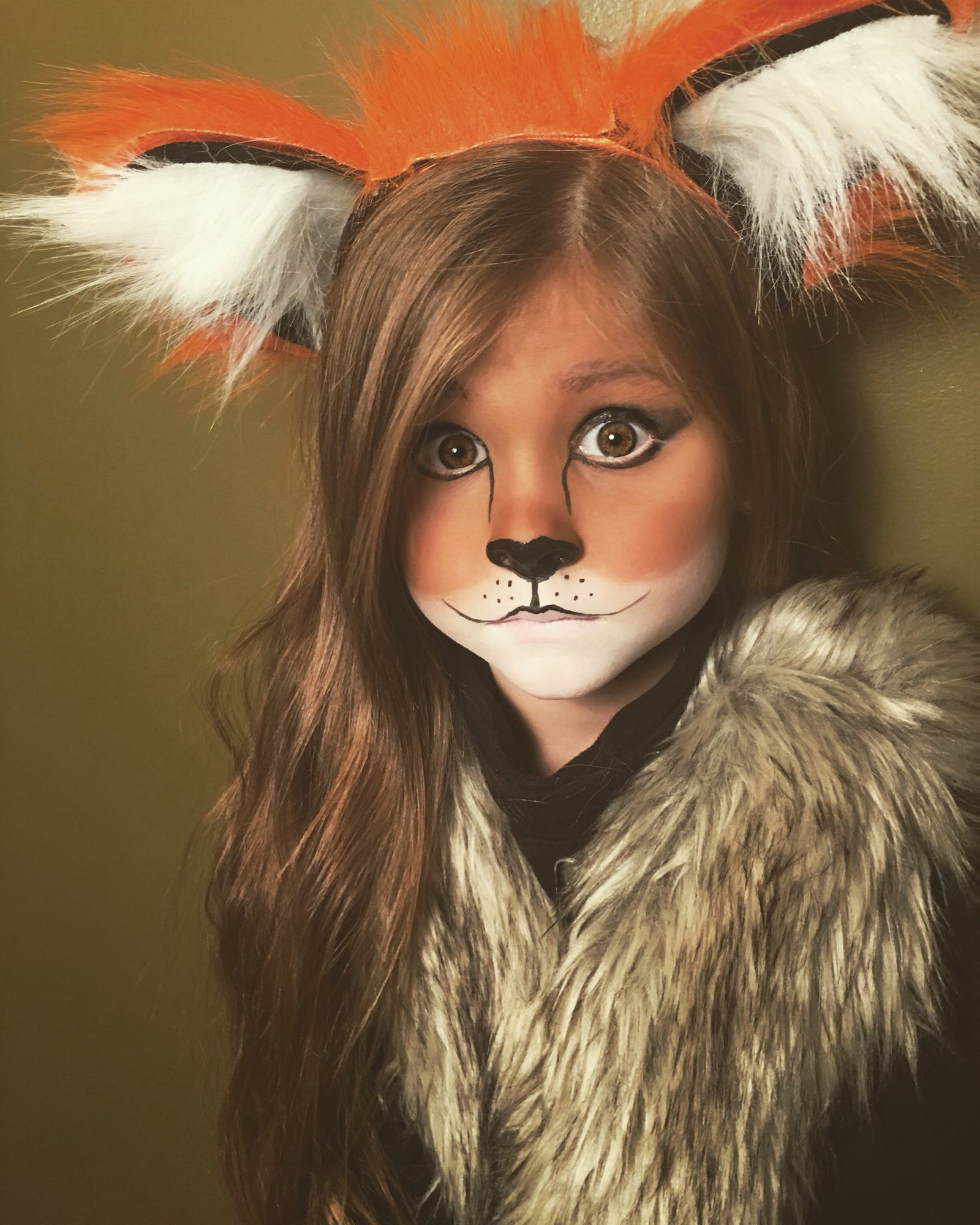 Cute and easy little girl fox Halloween makeup Cute