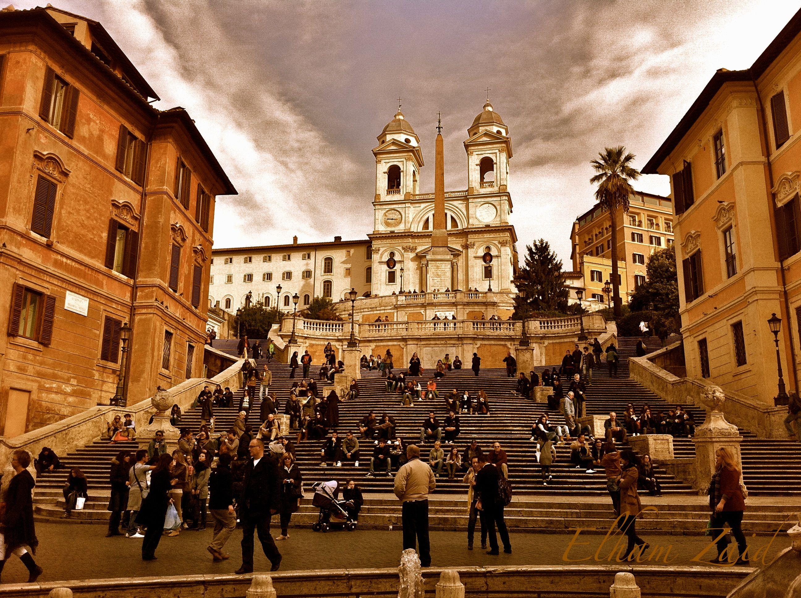 My photography, Rome, Italy, Spanish steps. Elham Zaid.