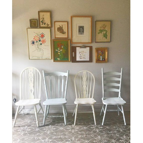 Farmhouse Chairs Set Of Four Vintage Farm You Choose The Style And Finish Rustic Provincial Dining
