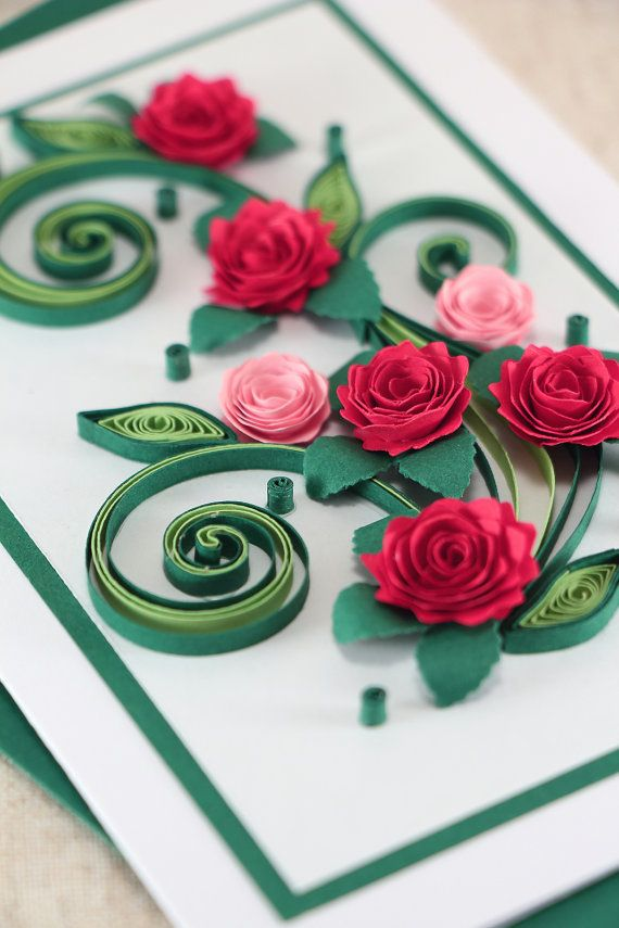 Mom Birthday Card - Handmade Quilling Greeting Card - Mum ...