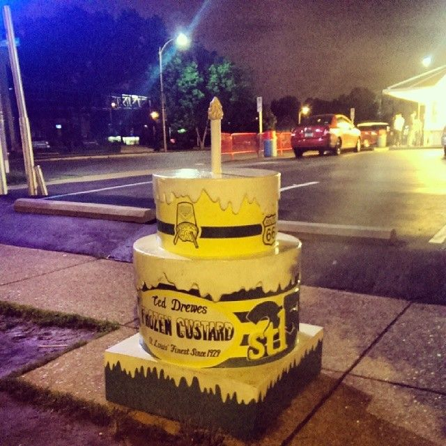 stl250 Ted Drewes Frozen Custard Birthday Cake Cakeway to the West