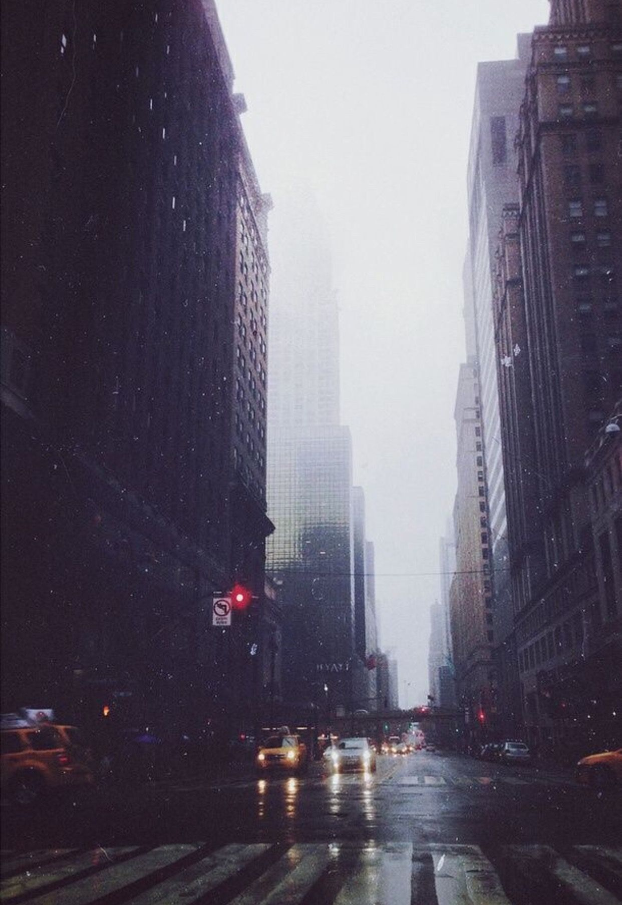 Foggy City Wallpaper Hipster Vintage Grunge
