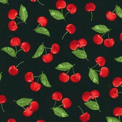 Love these cherries! Robert Kaufman Kiss the Cook by Mary Lake-Thompson AMK 15301 2 Black Cherries $9.80/yd