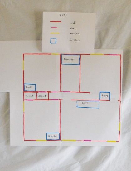 Map My House Activity Education Com Maps For Kids House Map Map Projects