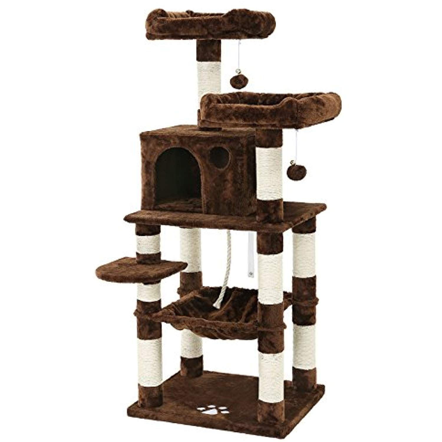 SONGMICS 58†MultiLevel Cat Tree with SisalCovered