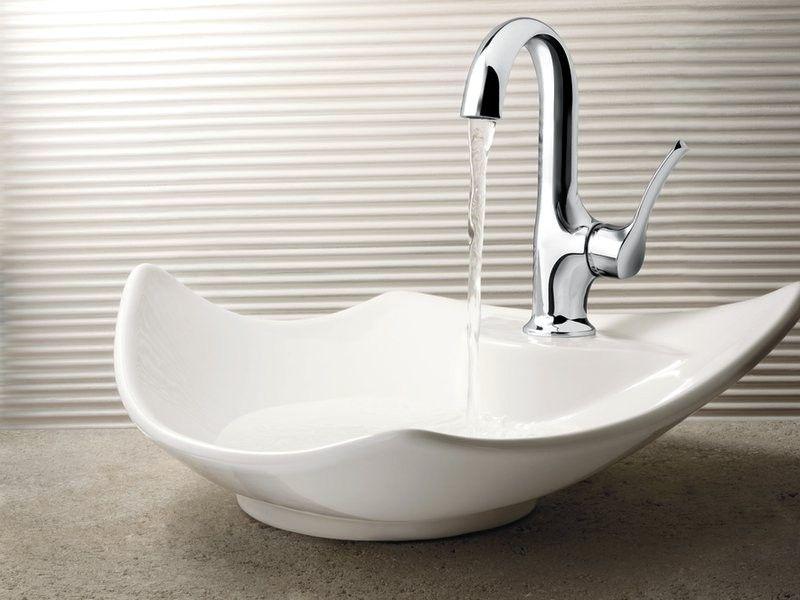Moen S41707 Fina Single Handle Bathroom Sink Faucet in Chrome | Bath ...