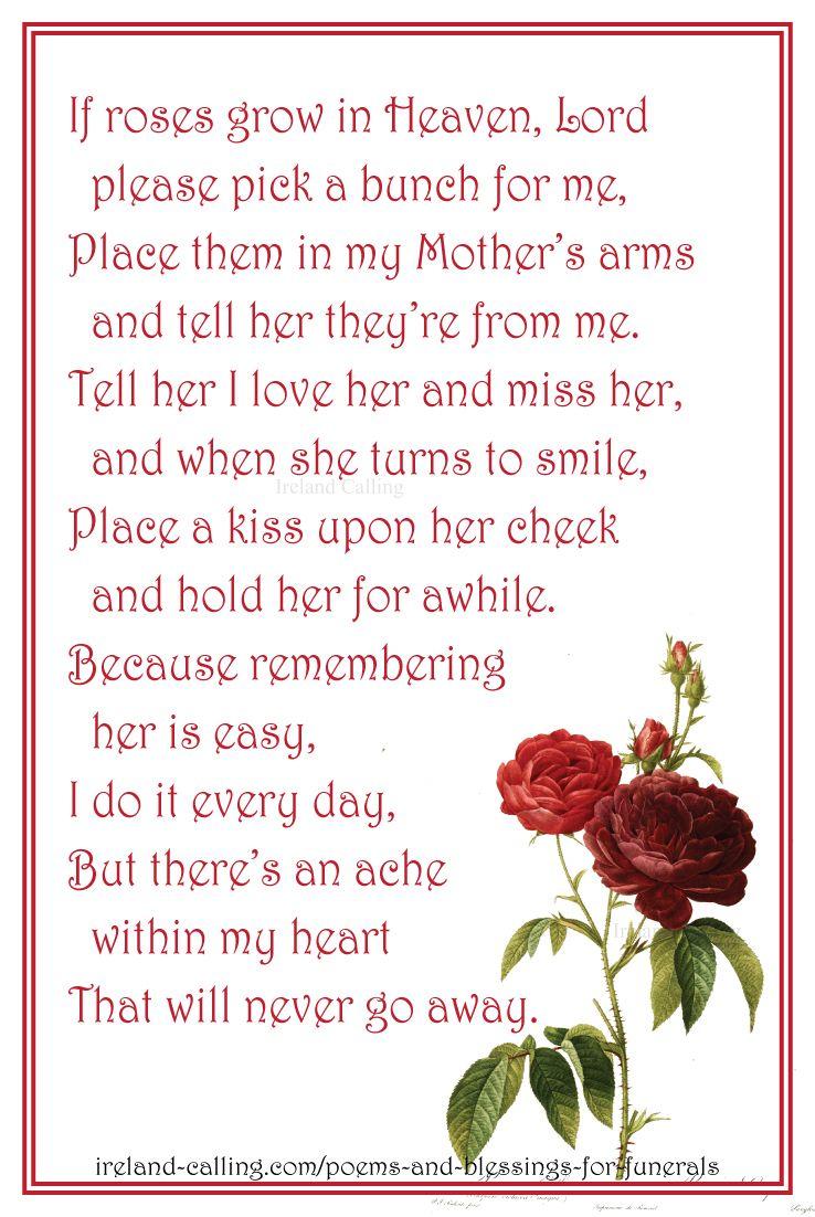 Irish Poem For Mom : irish, Irish, Poems, Blessings, Funerals, Funeral, Poems,, Quotes