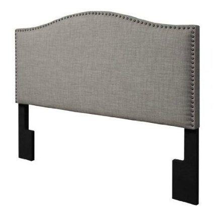 Amazon.com - Arch Upholstered Padded Gray Linen Fabric Headboard ...