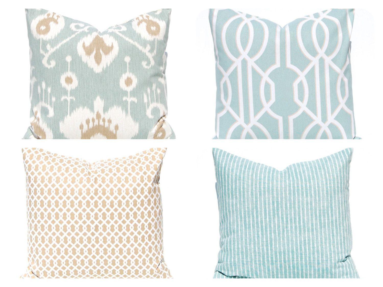 Sofa Pillow Covers Decorative Pillow Covers Seafoam Green