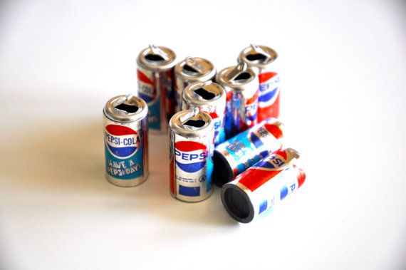 Mini Pepsi Cans Charms Set of 14