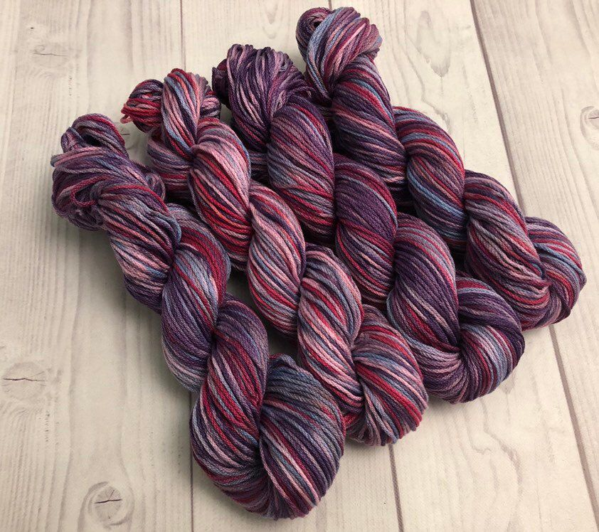 Gradient yarn setPure cotton , handdyed yarn 300g hand