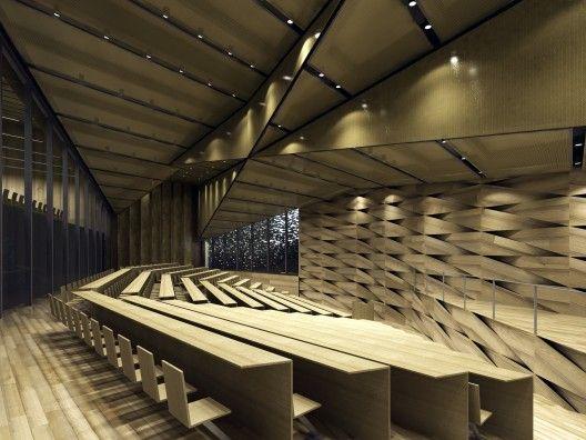 New Museum At China Academy Of Art Xiangshan Campus Kengo Kuma Associates Interior Architecture Design Kengo Kuma Theatre Interior