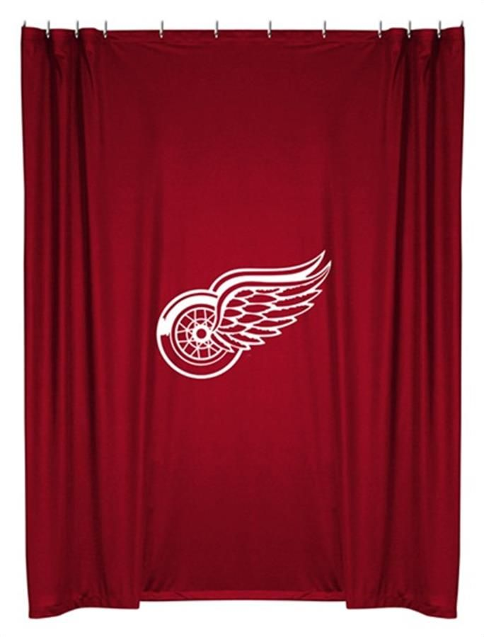 Red Wings Shower Curtain Detroit Red Wings Red Wings Red Wings