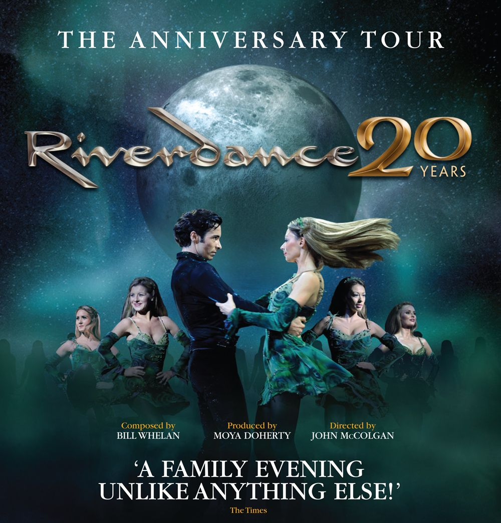 Riverdance 20 Years: The Anniversary Tour - Book Theatrical & Non-Traditional Tours 2015-2016   **  In cooperation with: WME wmeentertainment.com  >> contact Email >  maggie.win13@gmail.com    Best regards, Maggie _____________________________________   Maggie Maria Kalomvosaki Entertainment and Music Booking Agency ?  http://maggie-kalomvosaki.strikingly.com/ fb:   https://www.facebook.com/Maggies.Music.Live