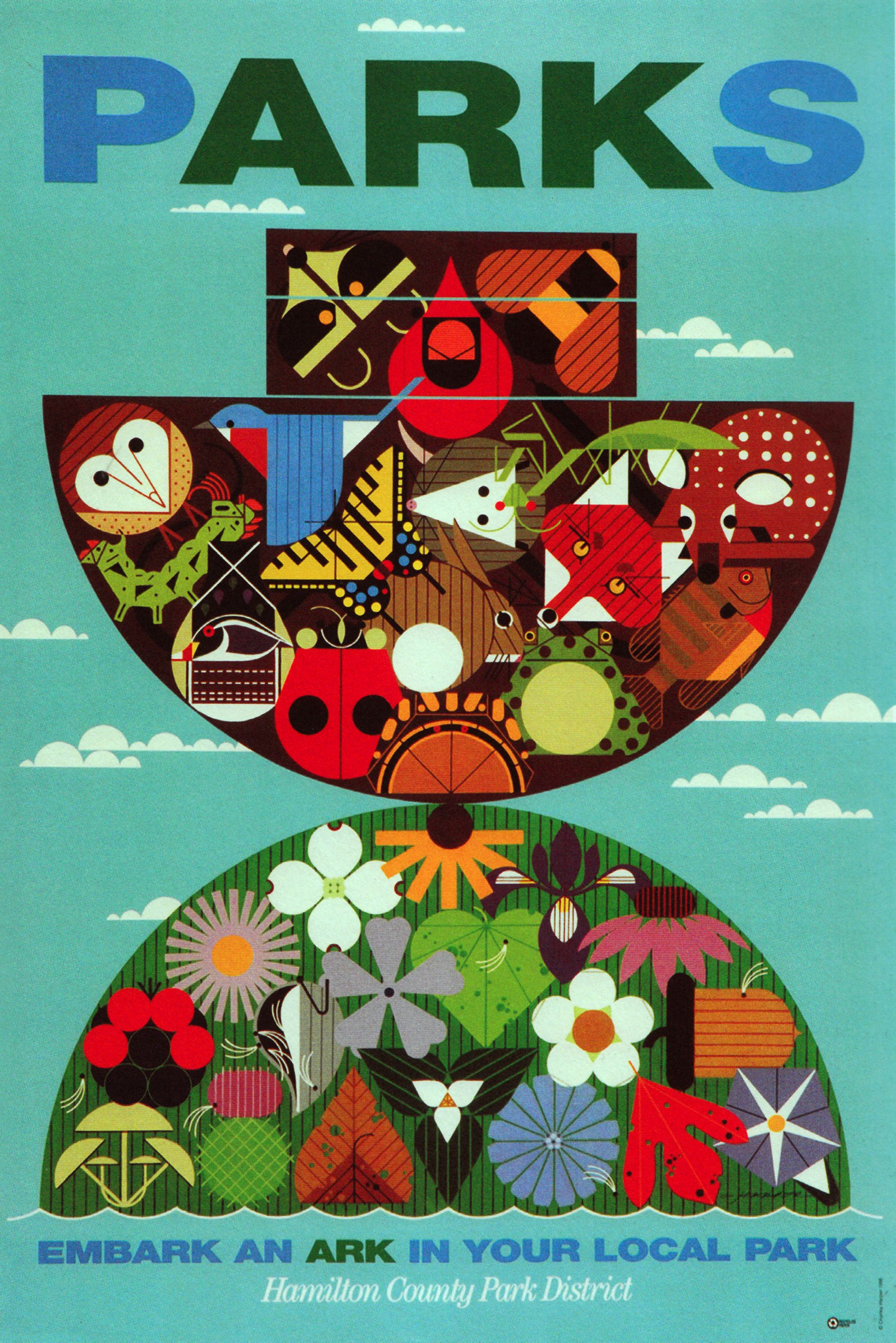 Poster by Charley Harper for Michigan parks.   Charley Harper ...