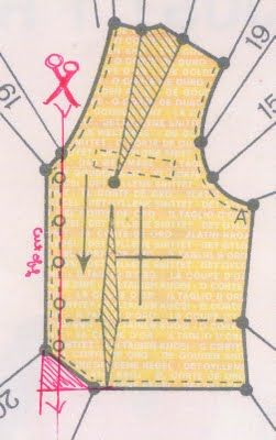 Instructions for drafting a vest pattern