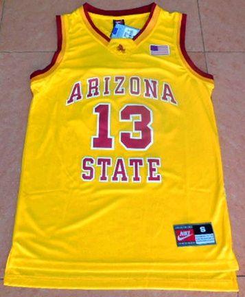 3d8cb4cc6589 Men s Arizona State  13 James Harden Yellow College Basketball Nike Jersey