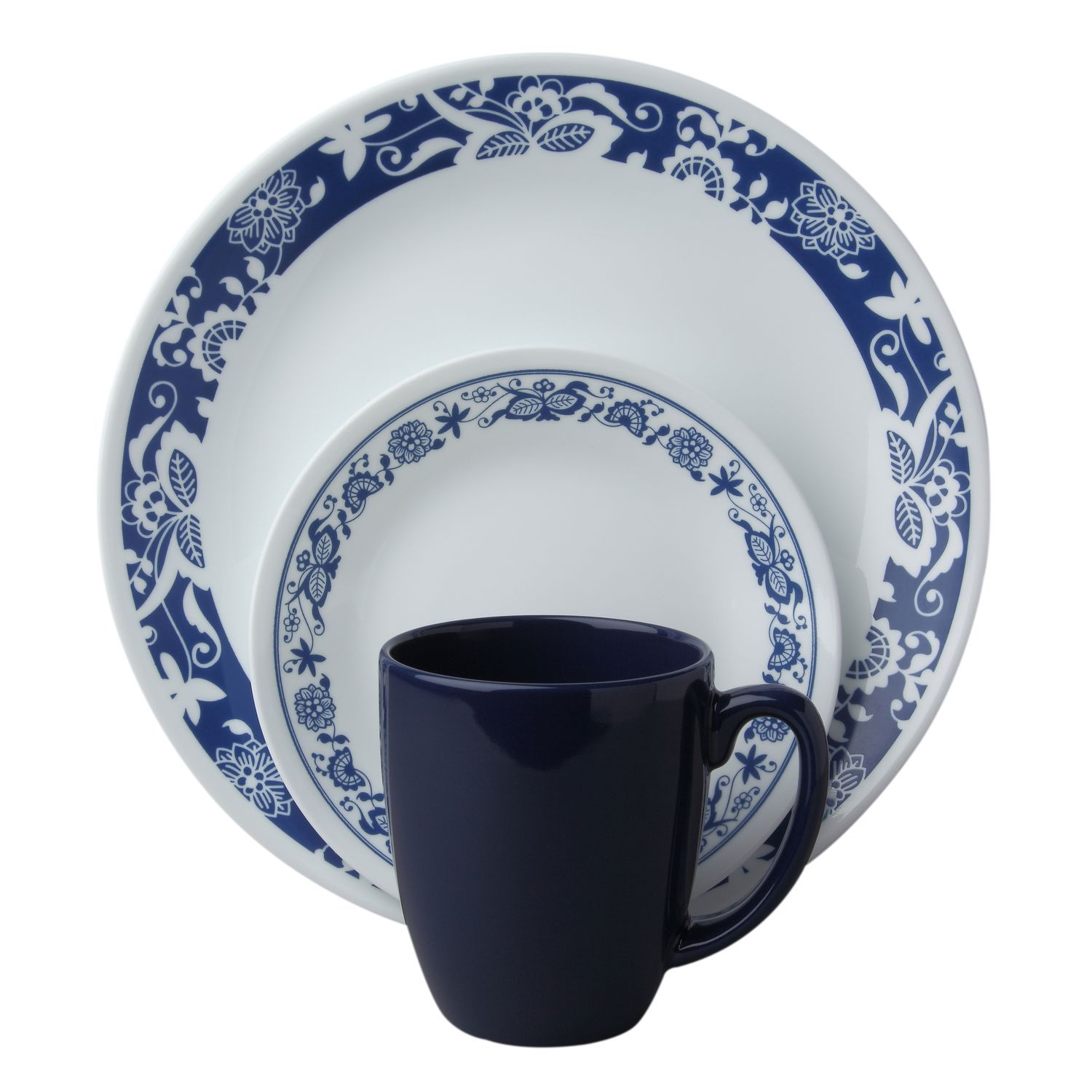 good Corelle Plates Outlet Part - 9: #Corelle® Livingware™ True Blue16-Pc Dinnerware Set - A modern twist on a  classic Corelle pattern that millions of you grew up with, Old Town Blue.