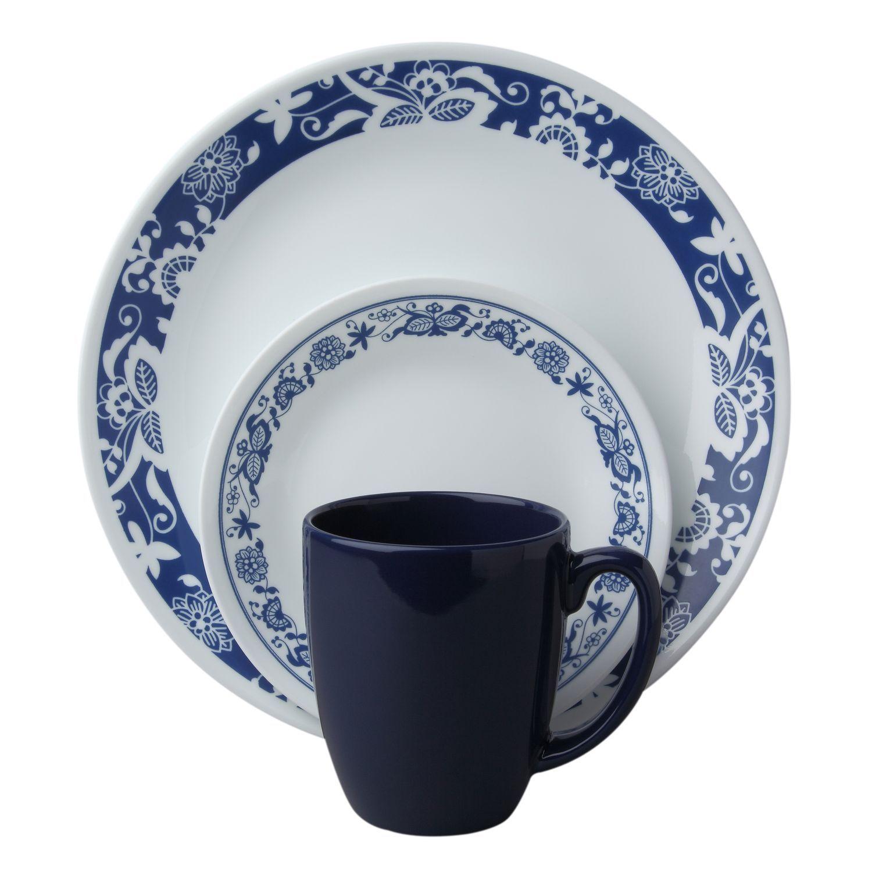 #Corelle® Livingware™ True Blue16-Pc Dinnerware Set - A modern twist on  sc 1 st  Pinterest & Corelle® Livingware™ True Blue16-Pc Dinnerware Set - A modern twist ...