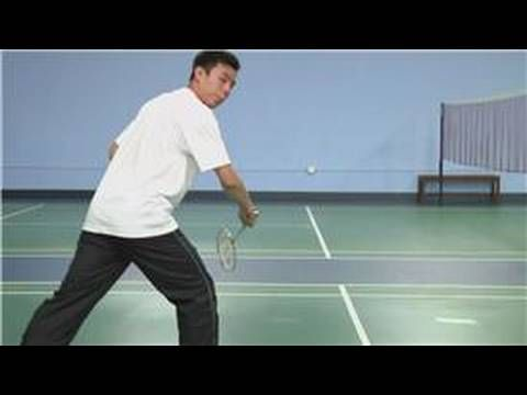 To Backhand Swing In Badminton Use The Backhand Grip And Execute An Underhand Middle Or Backhand Block Learn Mor Badminton How To Play Tennis Tennis Drills