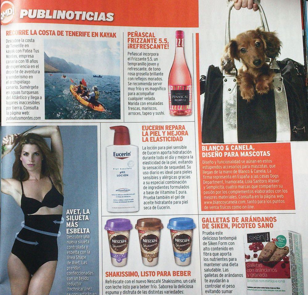 Nuestra distribuidora en la revista ¡Qué me dices!