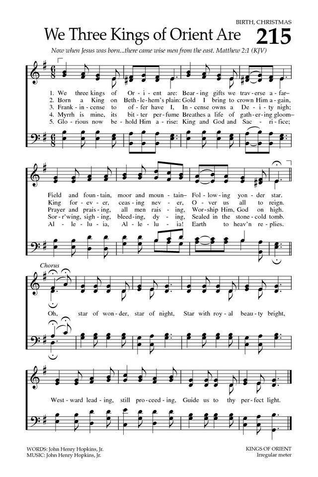 Baptist Hymnal 2008 page 308   Wonderful Church Hymns   Christmas