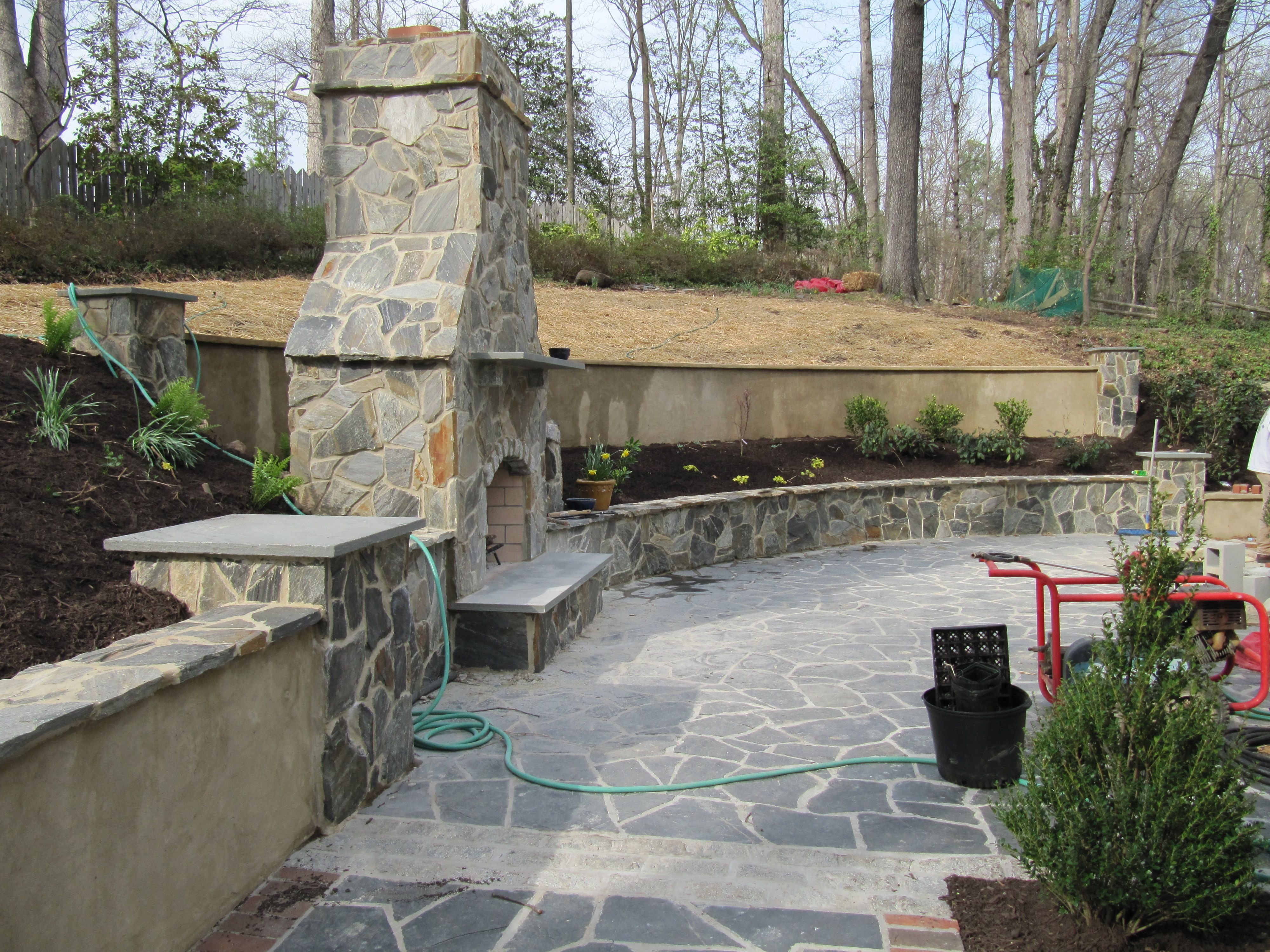 Marvelous Cheap And Easy Retaining Wall | Retaining Walls Create Patio Space |  Russell Combs Design