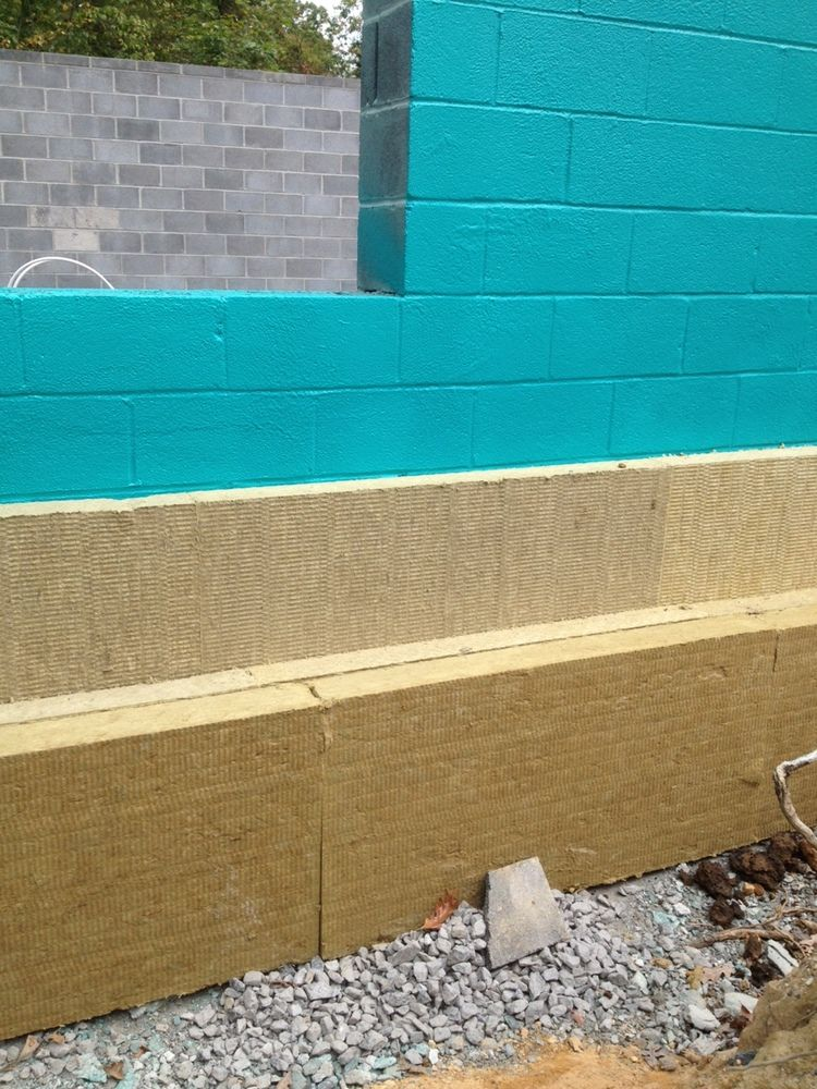 Exterior Insulation Mineral Wool Rub R Wall Waterproofing On Concrete Block Exterior Insulation Wall Waterproofing Concrete Blocks
