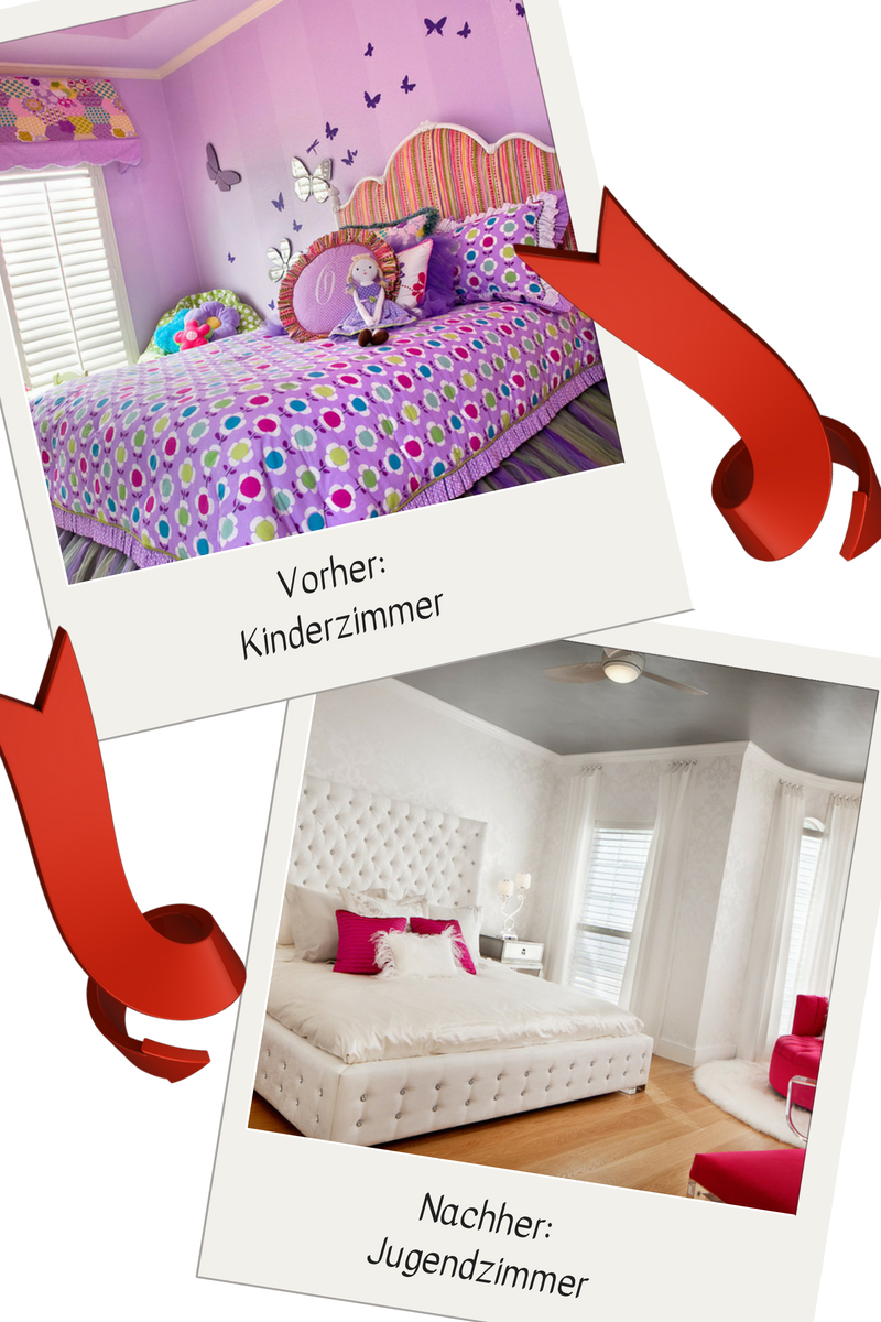 Großartig Kinderzimmer Lila Das Beste Von Umgestaltung Idee: Vom Zum Jugendzimmer Weiß