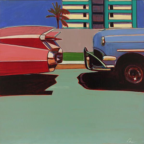 """Miami by Melissa Chandon, oil on panel, 24x24"""""""