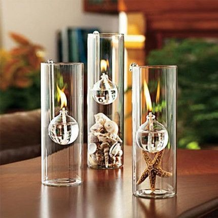 Glass Modern Oil Lamp Oil Lamps Clear Glass Lamps Glass Candle Holders