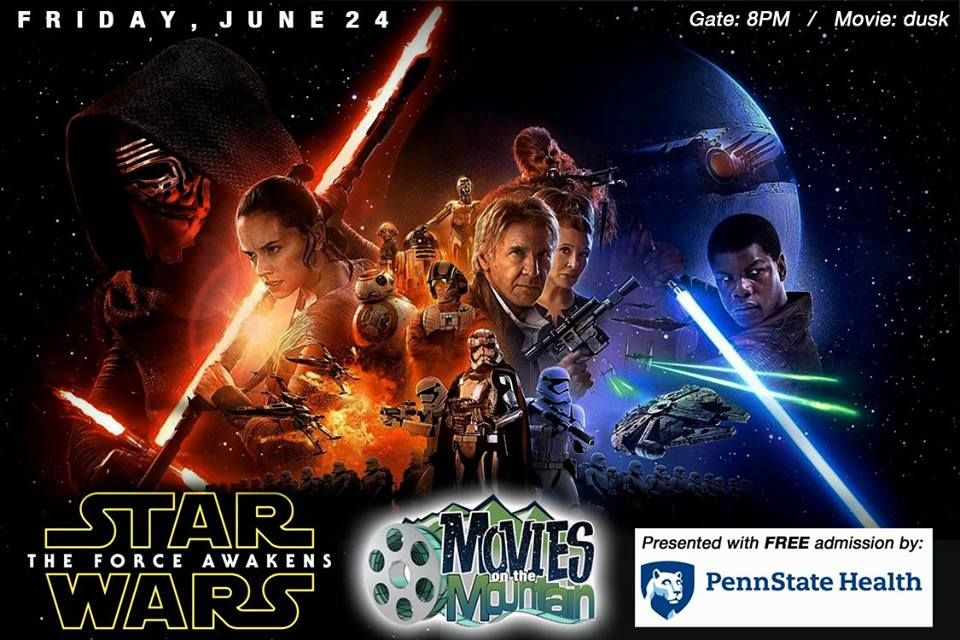 Join Tussey Moountain for another year of Movies on the Mountain -- outdoor films shown under the stars! Star Wars - tonight at 8PM! http://skipa.com/plan-a-trip/media-center-press-room/ski-area-press-releases/732-see-stars-wars-with-tussey-mountain-s-movies-on-the-mountain
