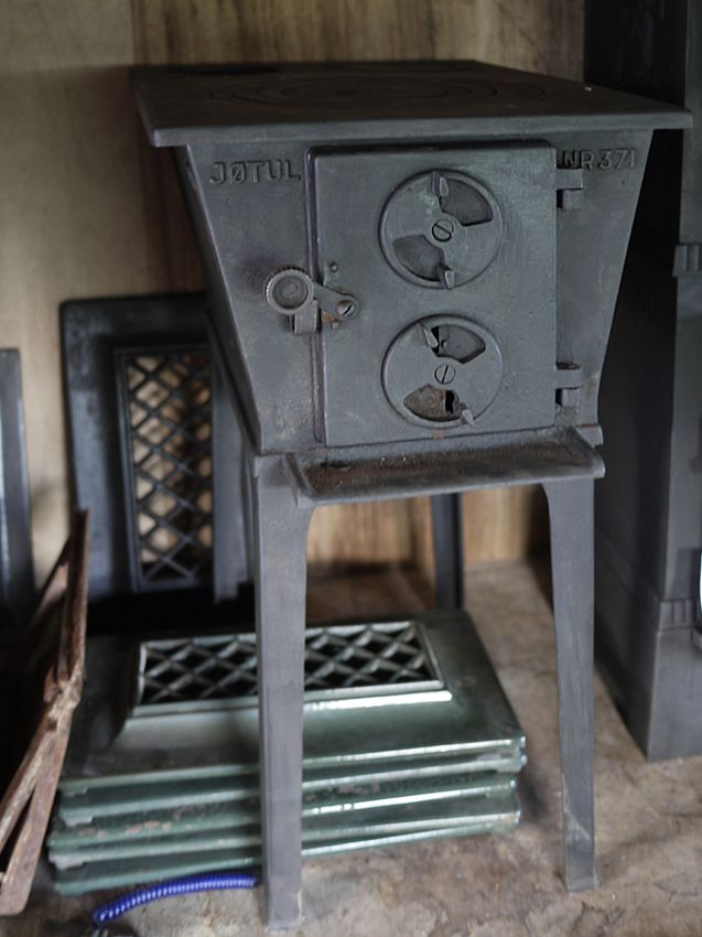 Old Jøtul wood burner, don`t see many of these around now...