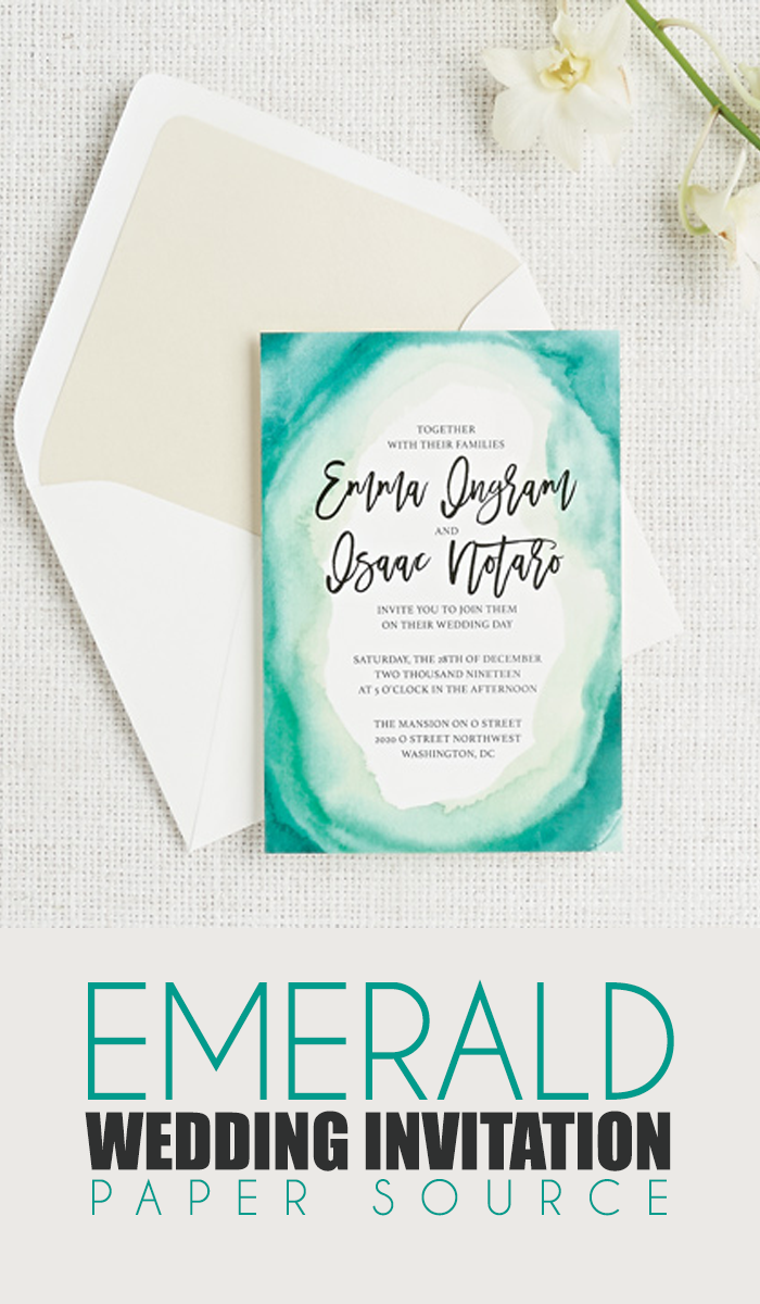 Wedding decorations and ideas december 2018 The shades of green watercolor strokes give this wedding suite a
