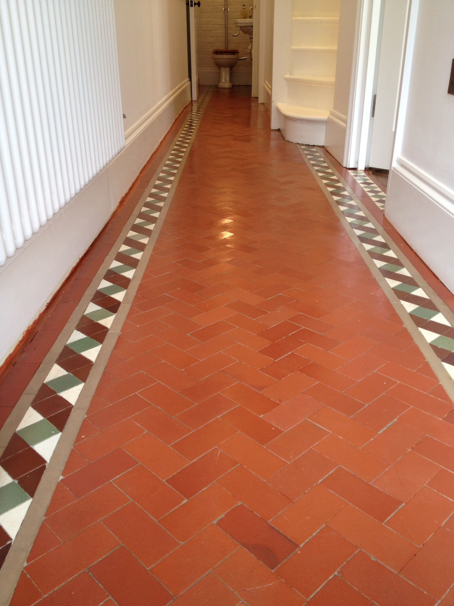 Quarry Tiles Cleaned and Restored Hertfordshire