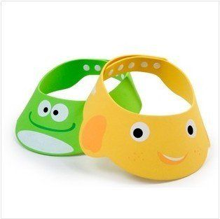 Cute Baby Adjustable Wash Hair Eye Shield Shampoo Bath Shower Cartoon Cap Hat