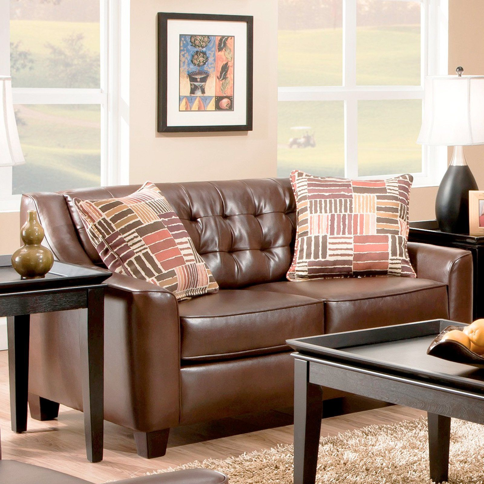 product brown plum today reclining design free shipping garden signature overstock gunsmoke dual by home oberson ashley loveseat