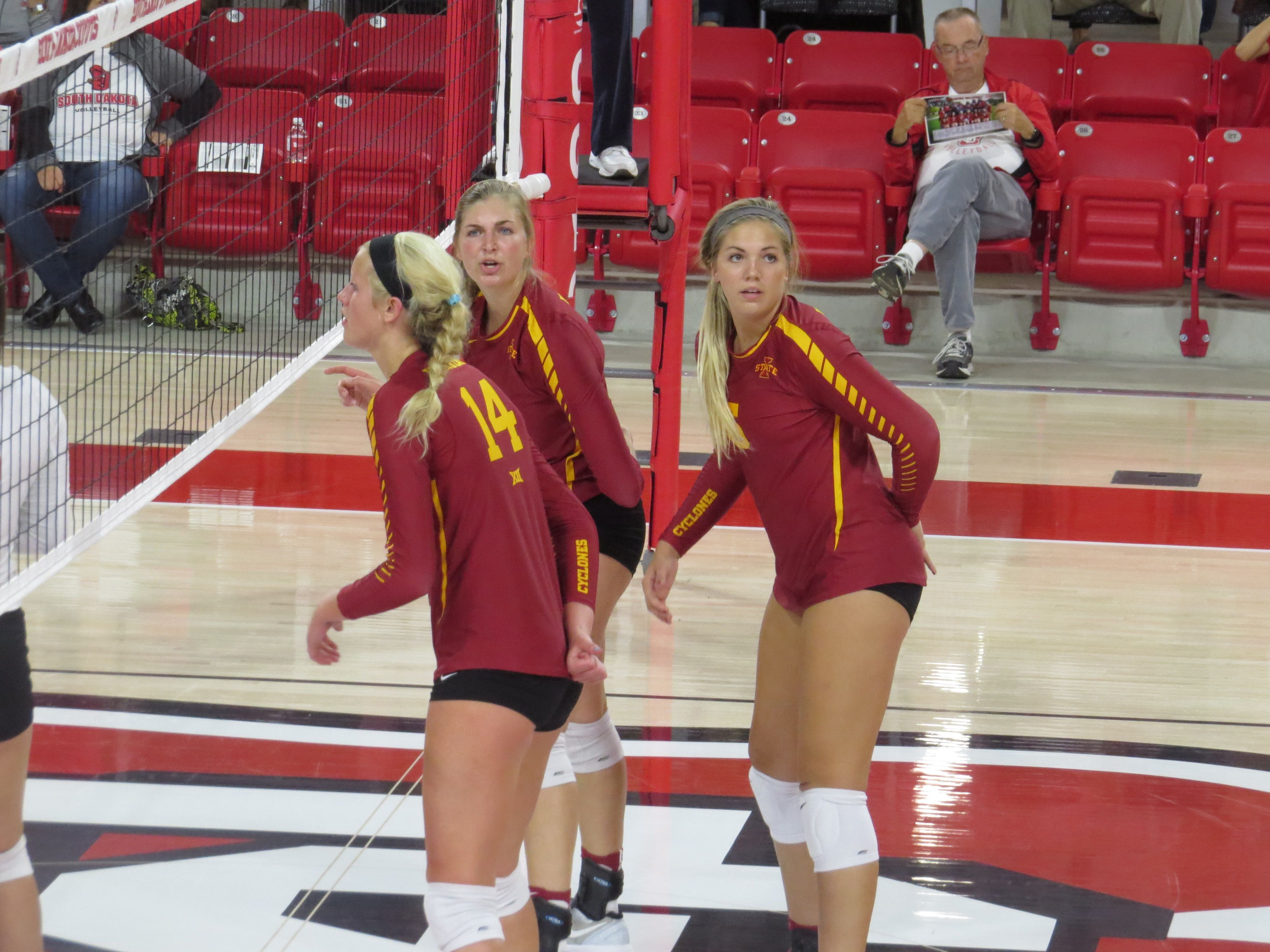 Alexis Conaway Anna Kiel Iowa State Isu Cyclone Volleyball Moc Fv And Unity Girls Isu Cyclones Orange City Iowa State