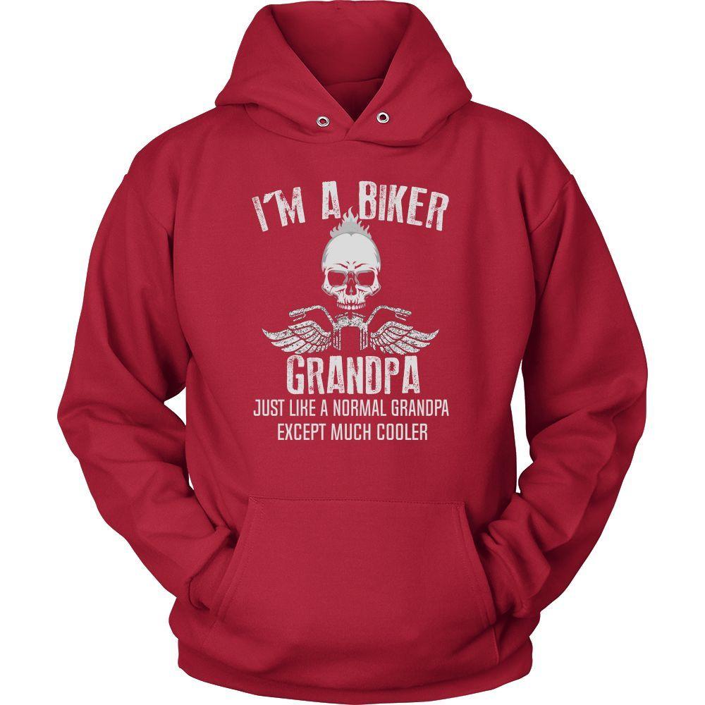 """I'm a Cool Biker Grandpa"" T-Shirt"