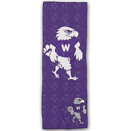 Wisconsin Whitewater Warhawks 1 Logo Yoga Mat Towel -- For more information, visit image link.