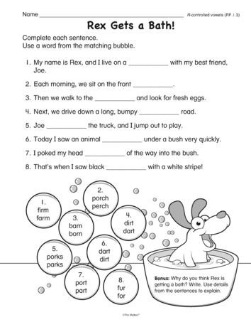 This phonics worksheet provides practice decoding and selecting the - phonics worksheet