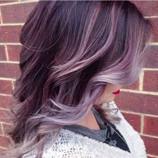 Faded Purple To Gray Balayage Hair Lavender Hair Plum Hair