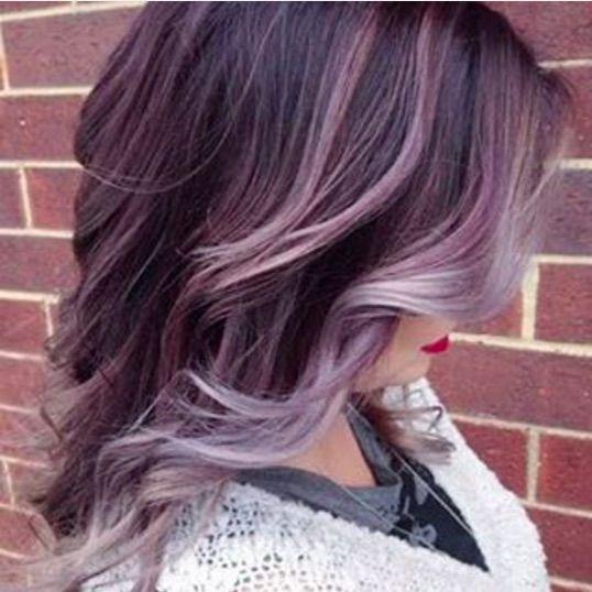 Faded Purple To Gray Balayage Hair Lavender Hair Plum Hair