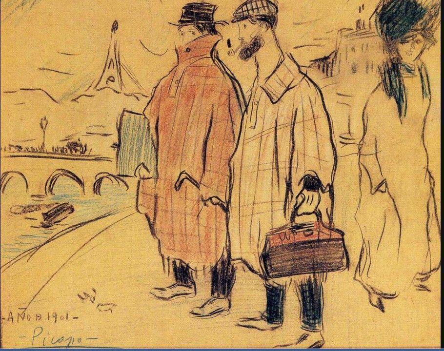 Picasso - Picasso et son ami Sebastia Junyer-Vidal à Paris, 1901