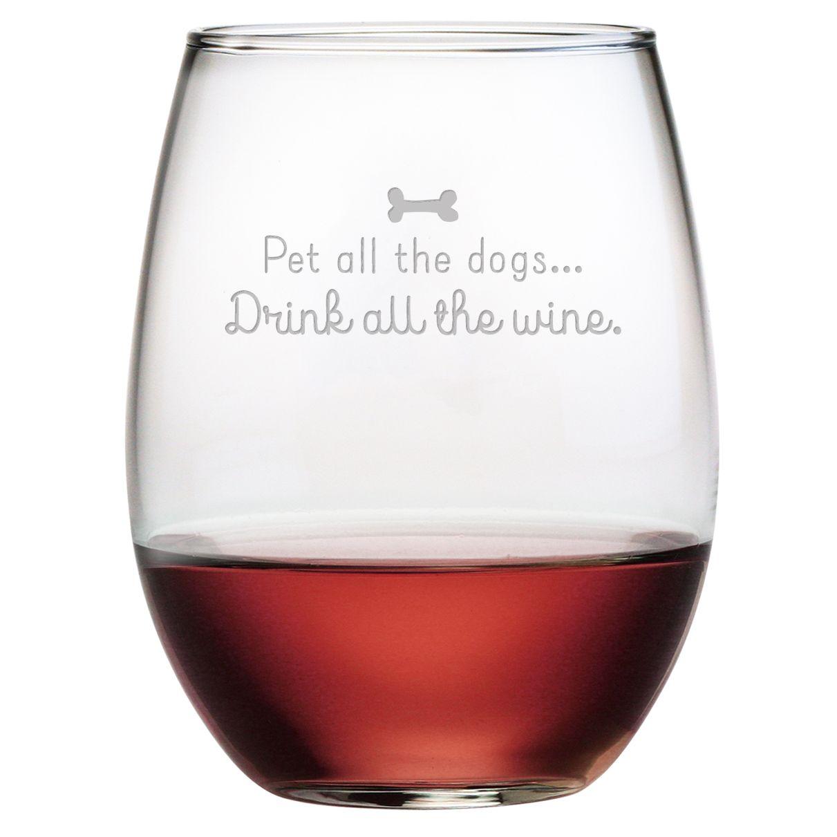 Happy Dogs Happy Me Funny Wine Glass Funny Wine Glasses Cute Wine Glasses